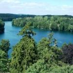 Jezioro Trześniowskie - widok z wieży Zamku Joannitów